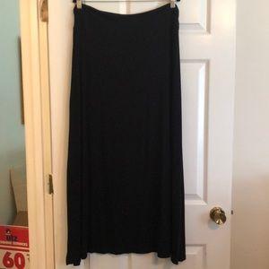 Merona Women's Long Black Maxi Skirt in Size XXL